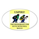 umpire t-shirts presents Oval Sticker