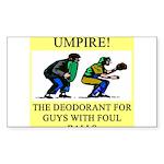 umpire t-shirts presents Rectangle Sticker