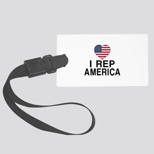 I Rep America Country Large Luggage Tag