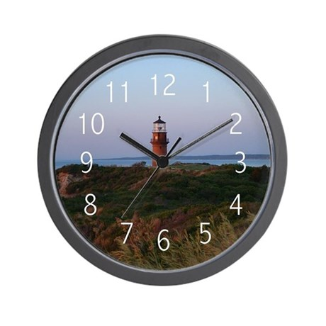 Sunset Lighthouse Wall Clock By Thehatch