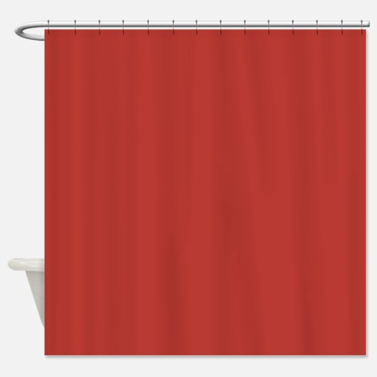 Aurora Red Solid Color Shower Curtain