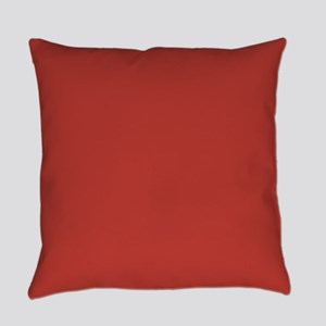Aurora Red Solid Color Everyday Pillow