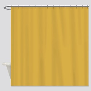 Spicy Mustard Solid Color Shower Curtain
