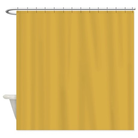 Spicy Mustard Solid Color Shower Curtain By ADMIN CP64763095