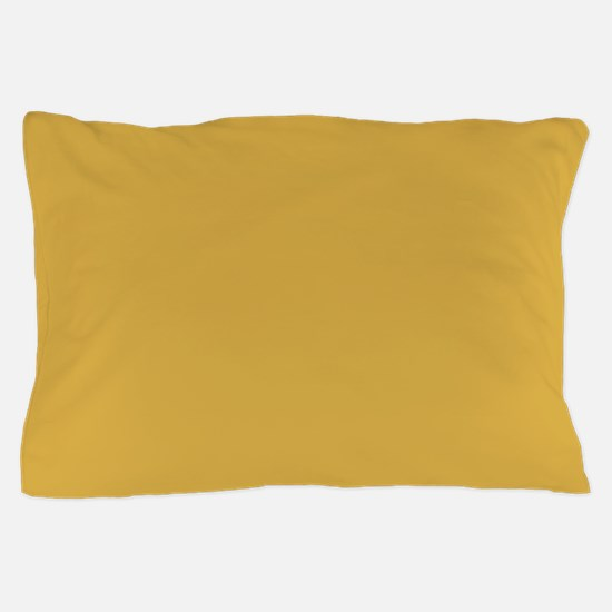 Spicy Mustard Solid Color Pillow Case