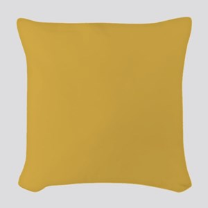Spicy Mustard Solid Color Woven Throw Pillow