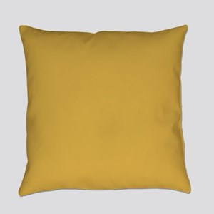 Spicy Mustard Solid Color Everyday Pillow
