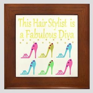 TOP HAIR STYLIST Framed Tile