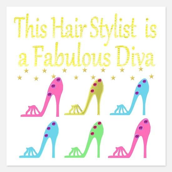 TOP HAIR STYLIST 5.25 x 5.25 Flat Cards