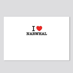 I Love NARWHAL Postcards (Package of 8)
