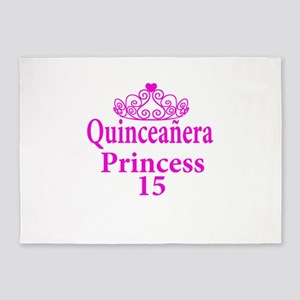 15th Birthday Quinceanera Princess 5'x7'Area Rug