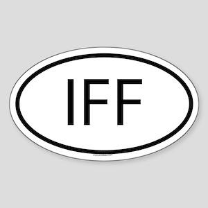 IFF Oval Sticker