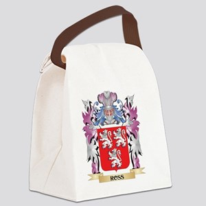 Ross Coat of Arms - Family Crest Canvas Lunch Bag