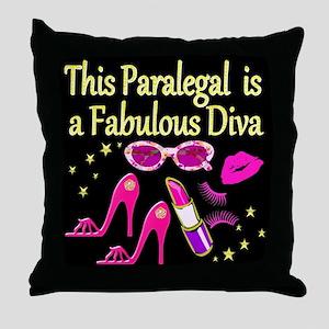 BEST PARALEGAL Throw Pillow