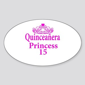 15th Birthday Quinceanera Princess Ladies Sticker