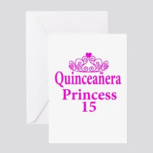 15th Birthday Quinceanera Princess Greeting Cards