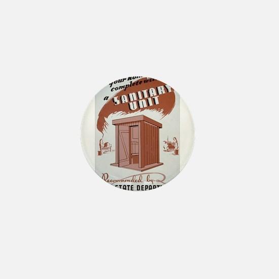 Outhouse Mini Button