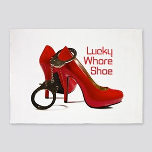 Whore Shoe 5'x7'Area Rug