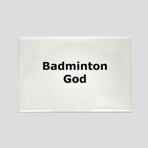 Badminton God Rectangle Magnet