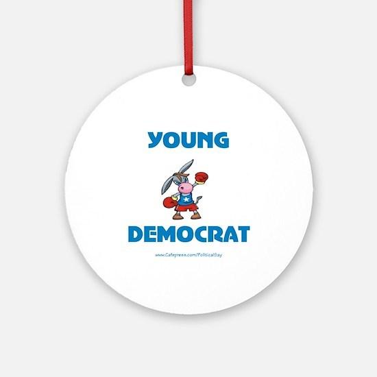 Young Democrat Ornament (Round)