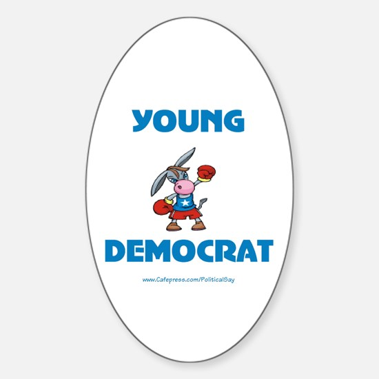 Young Democrat Oval Decal
