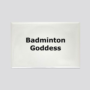 Badminton Goddess Rectangle Magnet