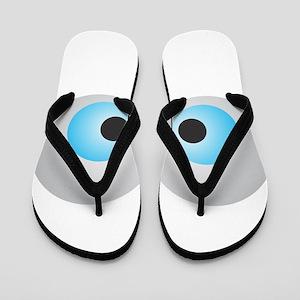 Goofy Eyes Flip Flops