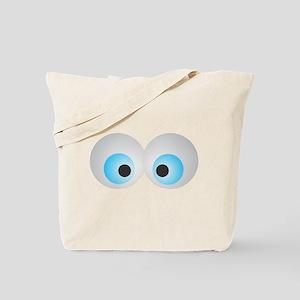 Goofy Eyes Tote Bag