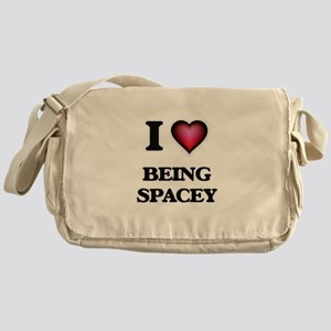 I love Being Spacey Messenger Bag