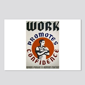 Work Promotes Confidence Postcards (Package of 8)