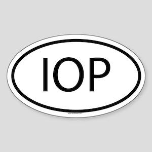 IOP Oval Sticker