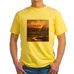 PEACE WHALES Yellow T-Shirt