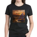 PEACE WHALES Women's Dark T-Shirt