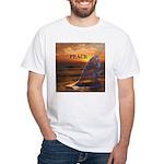 PEACE WHALES White T-Shirt