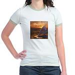 PEACE WHALES Jr. Ringer T-Shirt