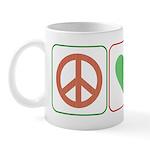 Peace Love Candy Canes Mug