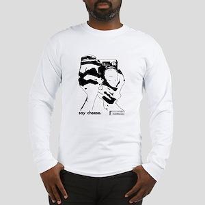 'say cheese' long sleeve t-shirt