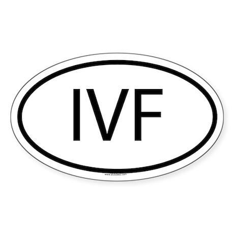 IVF Oval Sticker