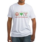 Peace Love Candy Canes Fitted T-Shirt