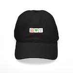 Peace Love Candy Canes Black Cap