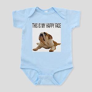 Happy Face Bulldog Body Suit