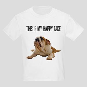 FIN-happy-face-bulldog-CROP T-Shirt