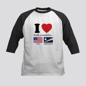 USA-MARSHALL ISLAND Kids Baseball Jersey