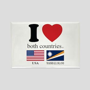 USA-MARSHALL ISLAND Rectangle Magnet