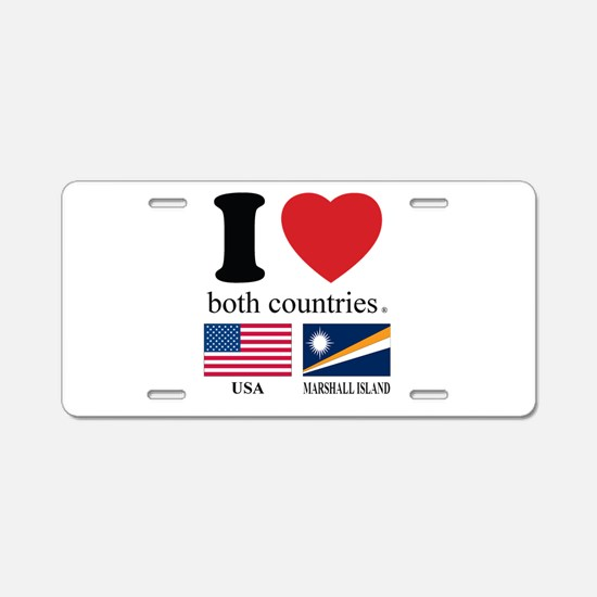 USA-MARSHALL ISLAND Aluminum License Plate