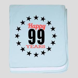Happy 99 Years Birthday baby blanket