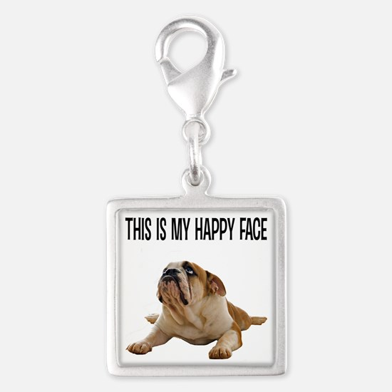 Happy Face Bulldog Charms