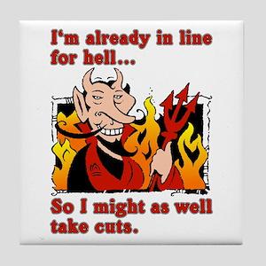 The Devil Made Me Do It! Tile Coaster