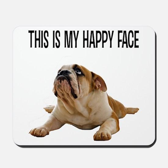 Happy Face Bulldog Mousepad