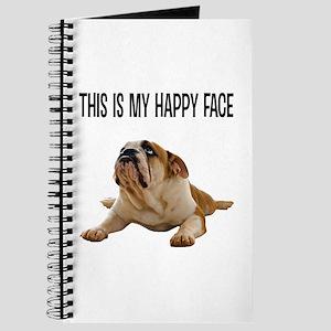Happy Face Bulldog Journal